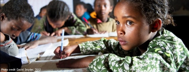 Schoolchildren in Ethiopia, Credit: David Snyder