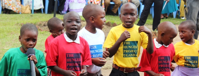 The Hunger Project-Uganda children
