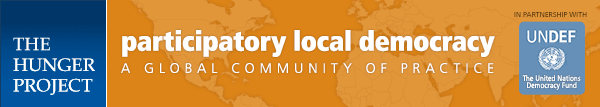 Participatory Local Democracy: in Partnership with UNDEF